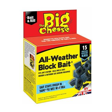 Big Cheese All-Weather Block Bait 15 x 10g | STV212