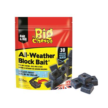 Big Cheese All-Weather Block Bait 30 x 10g | STV213