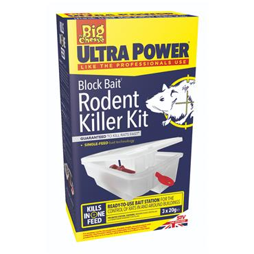 The Big Cheese Ultra Power Block Bait Mouse Killer Kit | STV565