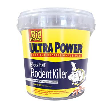 The Big Cheese Ultra Power Block Bait Rodent Killer Mouse & Rat Bait 15 x 20g | STV568