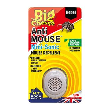 Big Cheese Anti Mouse Mini-Sonic Mouse Repellent | STV826