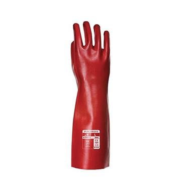 PVC GAUNTLET GLOVE RED X-LARGE | RG44RERXL