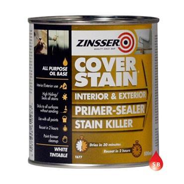 Zinsser Cover Stain Primer Sealer 500ml - White | ZN610283