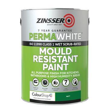 Zinsser Perma White Mould Resistant Paint Interior 1 Litre - Matt White | ZN610399