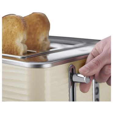 Russell Hobbs Inspire 4 Slice Toaster - Cream | 24384