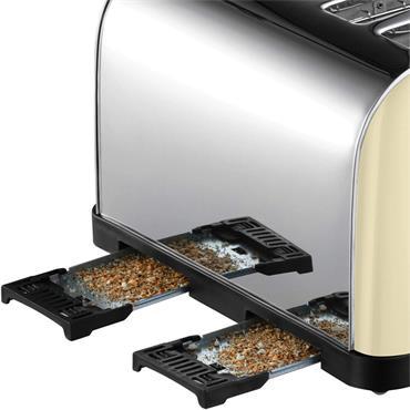Russell Hobbs 4 Slice Toaster - Cream / Stainless Steel   28363
