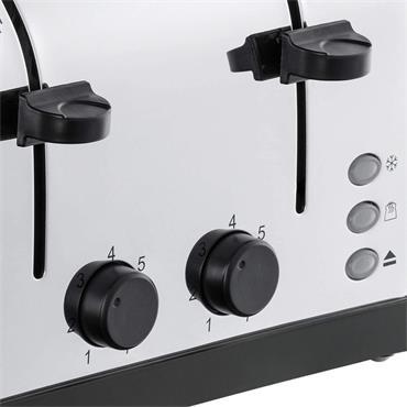 Russell Hobbs 4 Slice Toaster - Grey /  Stainless Steel   28364