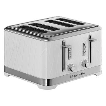 Russell Hobbs Structure 4 Slice Toaster - White   28100