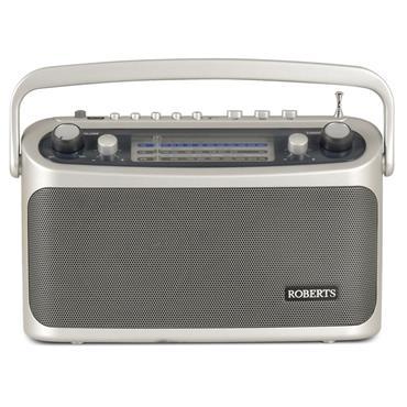 Roberts Classic 3 Band Analogue Portable Radio Silver | R9928