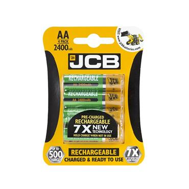 JCB AA RECHARGABLE BATTERY 4 PACK 2400MAH | 1737-12