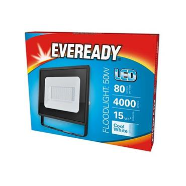 Eveready 50W LED Floodlight - Cool White 4000 Lumens | 1832-36