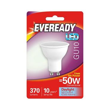 Eveready 5W (50W) GU10 LED Bulb - Cool White | 1826-06