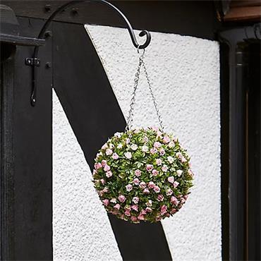Topiary Pink Rose Ball - 30cm | 260686
