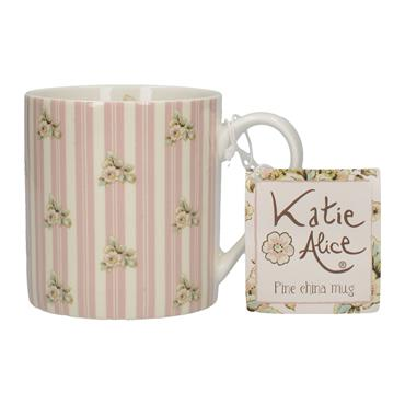Katie Alice Cottage Flower Can Mug Pink Stripe | MG2472