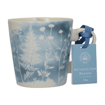 Kew Gardens Richmond Watercolour Meadow Squat Mug Blue | 5227098