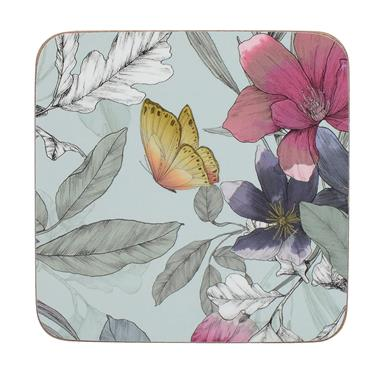 Creative Tops Butterfly Floral Pack Of 6 Premium Coasters   C000298