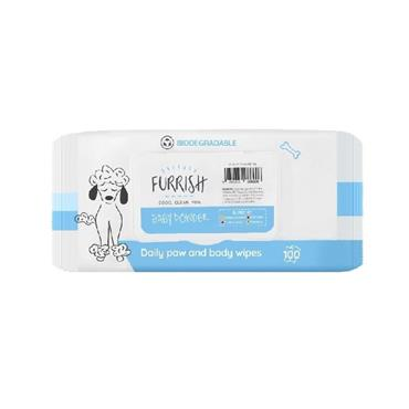 Furrish Baby Powder Daily Paw and Body Wipes 100 Pack | FR6806