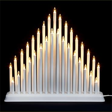 Premier 33 Light Candle Bridge Tower - White | FLI191002