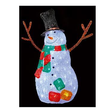 Premier 56cm Acrylic Snowman with Twig Arms & Scarf | FLV201331