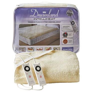 Dreamland Intelliheat Dual Control Fleece Double Electric Blanket Underblanket | 16297