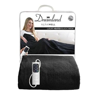 Dreamland Intelliheat Luxury Heated Throw - Black | 16769D