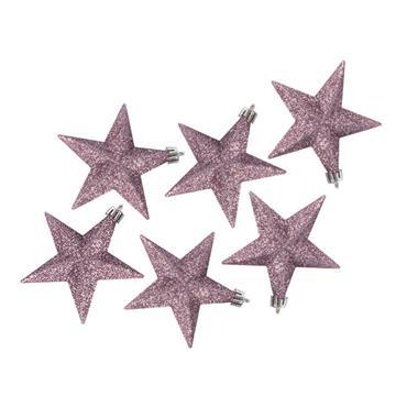 Premier 100mm Pink Glitter Stars - 6 Pack | TD126378DUP