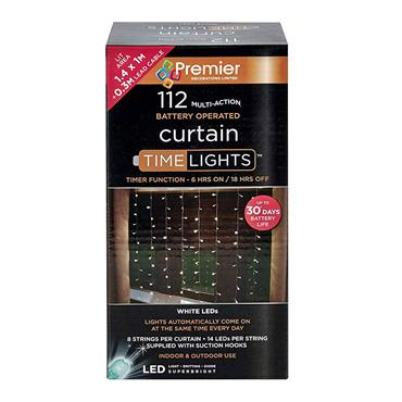 112 LED CURTAIN LIGHTS MULTI-COLOUR