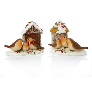 Premier 17cm Robin with Birdhouse - Assorted | MO165439
