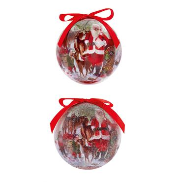 Premier 75mm Santa with Deer Bauble 14 Pack 2 Assorted | TD165359