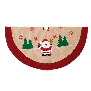 Premier 90cm Jute Tree Skirt with Santa | PL171466