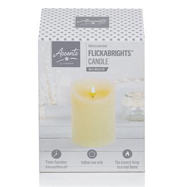 Premier Flickabright Candle Cream - 13cm x 9cm | FALB192180