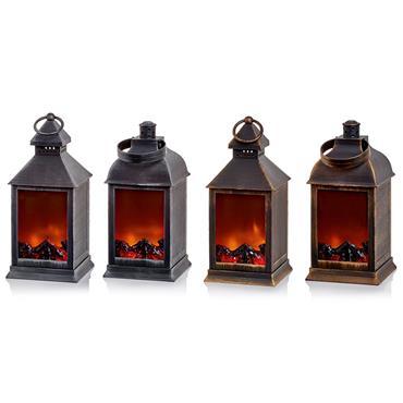 Premier 24cm Battery Operated Fireplace Lantern | LB191306