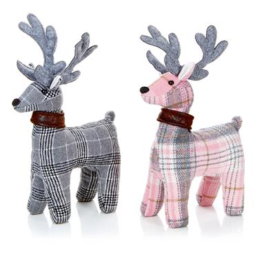 Premier 30cm Pink or Grey Reindeer Assorted | PL205453PGY