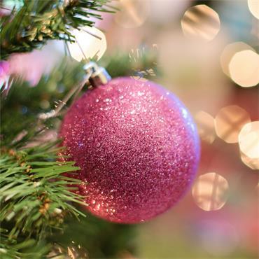 Premier Glitter Bauble Ball 80mm 8 Pack - Pink | TD205416DUP