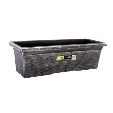 Gardag Rustic Trough Planter Black & Silver 60cm | GA400953