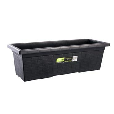 Gardag Rustic Trough Planter Black 60cm | GA401110