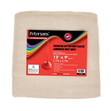 PETERSONS 12X9 DUST SHEET COTTON PLASTIC