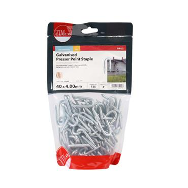 Timco Presser Point Glavanised Fencing Staples 4.0x40mm 1kg | PPS40B