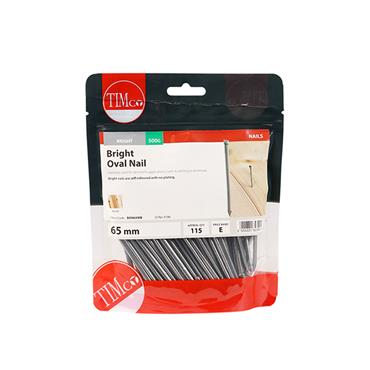 Timco 65mm Oval Nails 500g | BON65MB