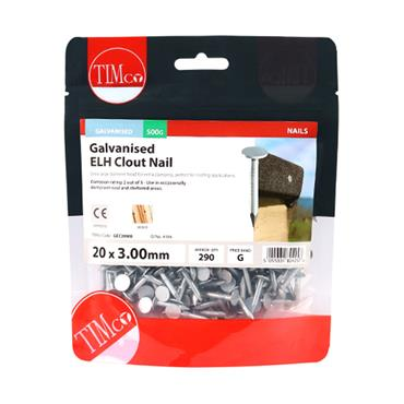 Timco 20mm Extra Large Head Clout Nails | GEC20MB