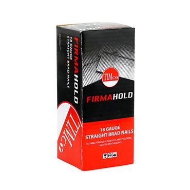 Timco FirmaHold Collated Brad Nails - 18 Gauge - Straight - Galvanised 5000 Pack | BG1816