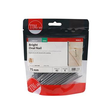 Timco 75mm Oval Nails 500g | BON75MB