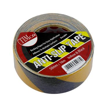 TIMCO Anti-Slip Tape 50mm x 10m - Black/Yellow | ASTSTRIPE