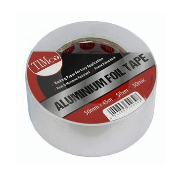 Timco Aluminium Foil Tape 45m x 50mm