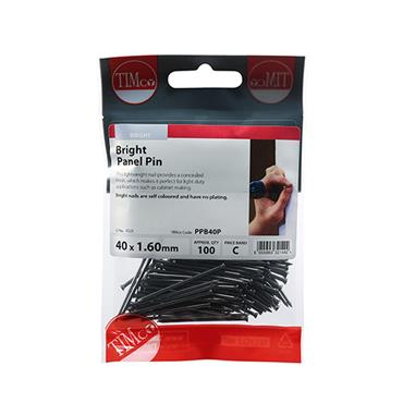 Timco Panel Pins - Bright 40mm x 1.60 100 Pack | PPB40P