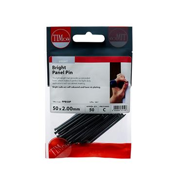 Timco Panel Pins - Bright 50mm x 2.00 50 Pack | PPB50P