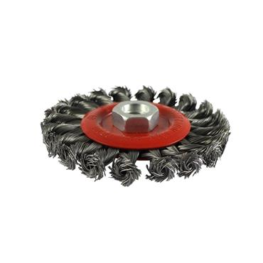 Addax Angle Grinder Wheel Brush - Twisted Knot Steel Wire 115mm | 115TWT