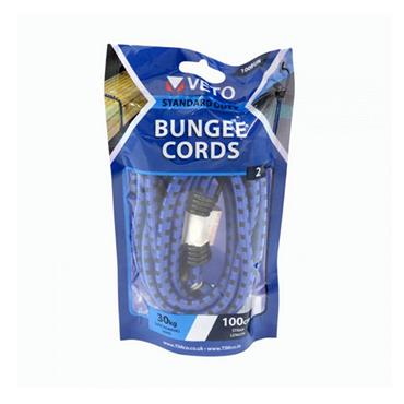 Veto Bungee Cords 8mm x  100cm 2 Pack   100BUN