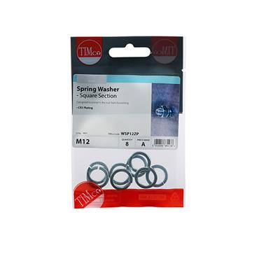 Spring Washers - Zinc M12 8 Pack | WSP12ZP
