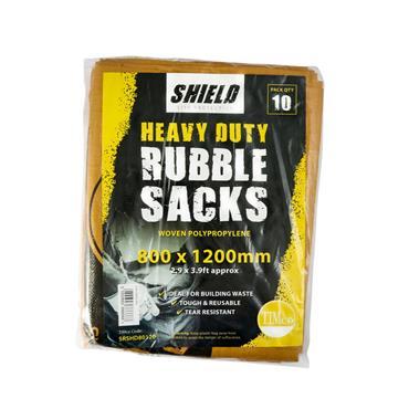 Shield Rubble Sacks - Heavy Duty 80 x 120cm 10 Pack